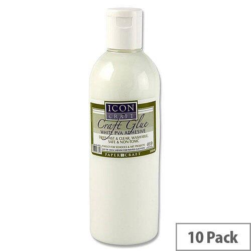 PVA Icon Craft Glue 500ml Bottle Pack 10