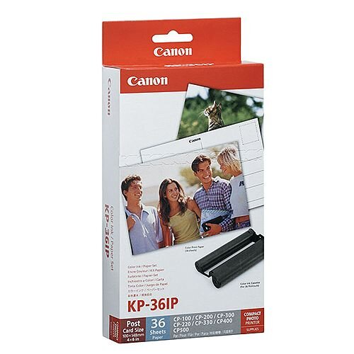 Canon KP-36IP Tri-Colour Value Pack Ink Includes 36 Postcard Size Photo Papers 7737A001AH