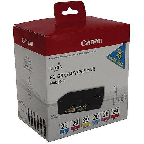 Canon PGI-29 6 Colour Ink Tanks Multipack 4873B005AA