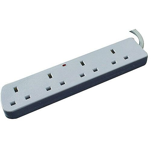 CED 4-Way Extension Lead 13amp 3 Metres White CEDTS4513M