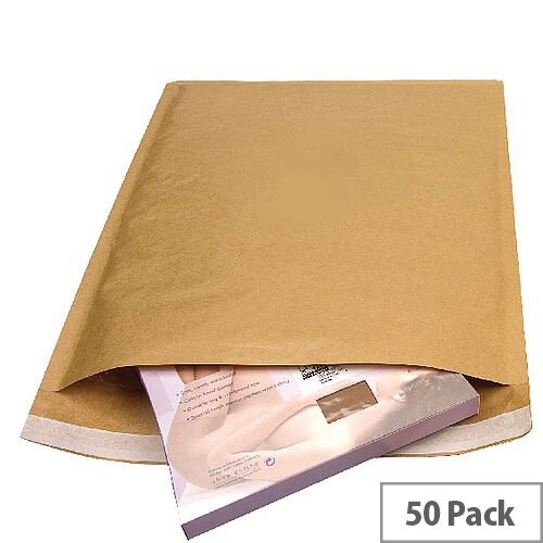 Mail Lite Bubble Lined Assorted Sizes Gold Postal Bags Pack of 50