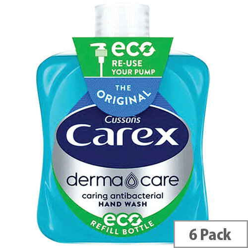 Carex Anti-Bacterial Original Handwash Liquid Soap Hand Wash 500ml (Pack 6) KJEYS5002