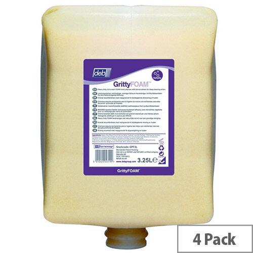 DEB Gritty Foam Scrub Wash Cartridge Refills 3.25 Litre (Pack of 4) GPF3L