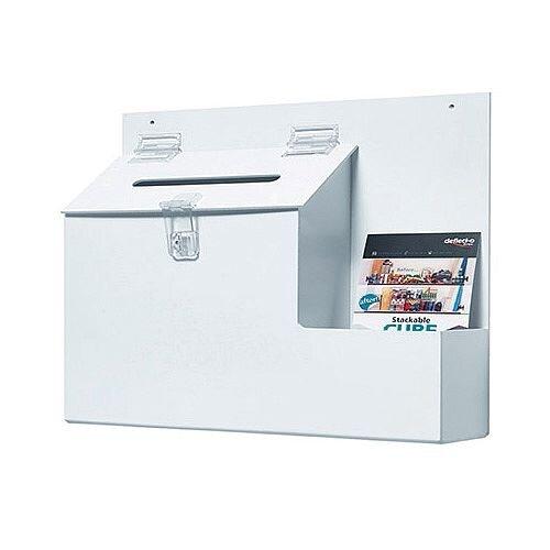 Deflecto Ballot/Suggestion Box White