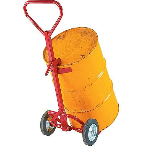 Drum Truck Red 450 kg Capacity With Rubber Wheels 7264D