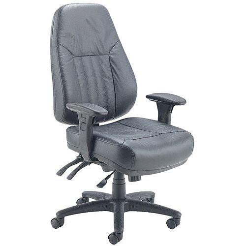 Arista Lucania Leather 24 Hour Heavy Duty Task Operator Office Chair KF74022