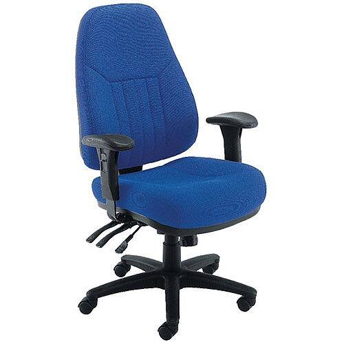 Avior Luciana High Back Heavy Duty 24 Hour Task Operator Office Chair Blue