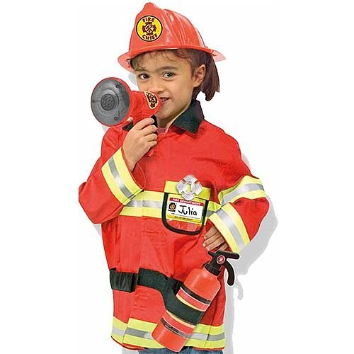 Fire Chief Kids Costume 3-6 Years
