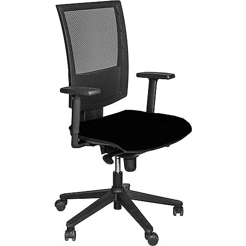 Flash Mesh Office Chair With Tension Control Adjustable Back &Arms Black