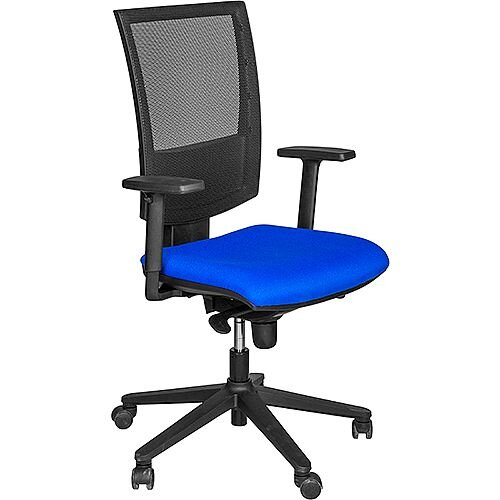 Flash Mesh Office Chair With Tension Control Adjustable Back &Arms Blue