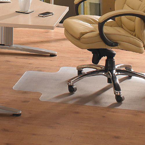 Cleartex Advantagemat PVC Chairmat For Hard Floor Lipped 920x1210mm 1299225LV