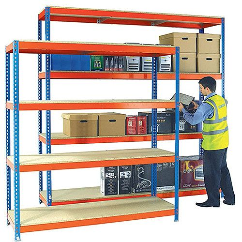 Heavy Duty Painted Additional Shelf 1500x900mm Orange/Zinc 378855