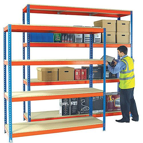 Heavy Duty Painted Additional Shelf 2100x900mm Orange/Zinc 378864