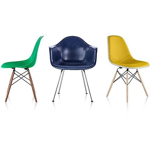 Herman Miller Eames Molded Fiberglass Chairs