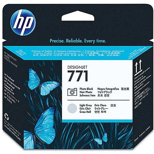 Hewlett Packard No771 Design Jet Print Head Photo Black/Light Grey CE020A