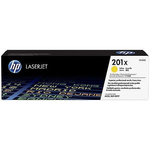 HP 201X Original JetIntelligence LaserJet Toner Cartridge High Yield Yellow CF402X
