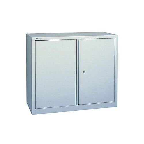 Jemini 2-Door Stationery Cupboard 914x400x1000mm 1 Shelf Grey