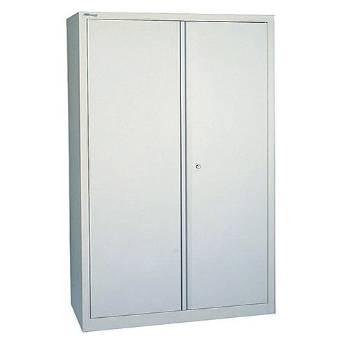 Jemini 2-Door Stationery Cupboard  4 Shelves Grey - 914x400x1950mm, 5-Year warranty, Long-Life, Lockable, Lateral Filing &Professional Design (SCP782A4-V7)