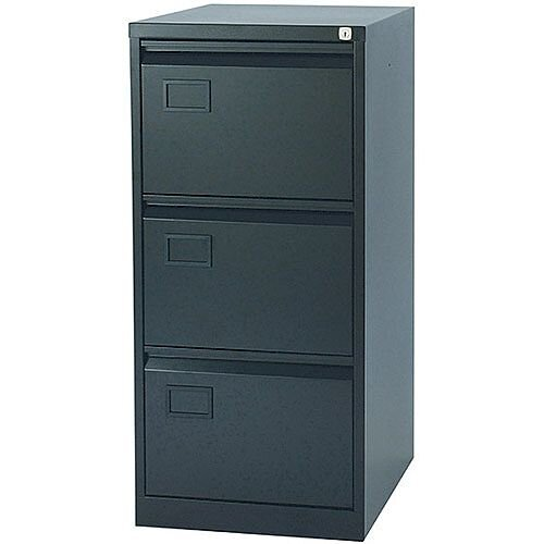 3-Drawer Filing Cabinet Black Jemini By Bisley