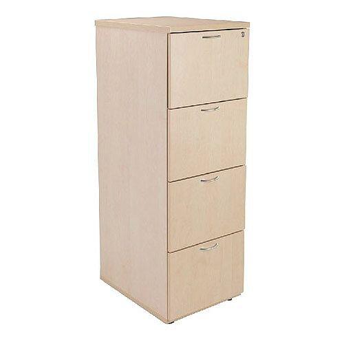 Wooden 4-Drawer Filing Cabinet Maple Jemini KF71960