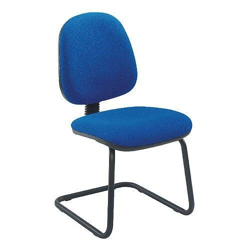 Jemini Medium Back Visitors Chair Blue