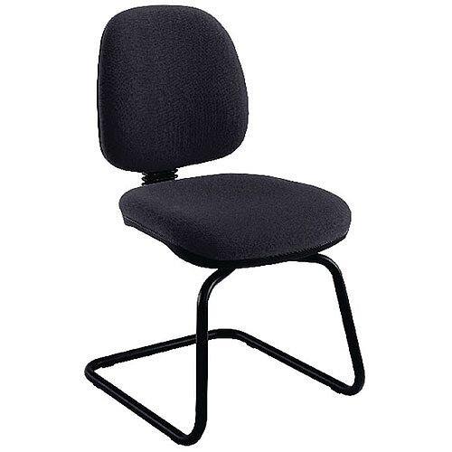 Jemini Medium Back Visitors Chair Charcoal