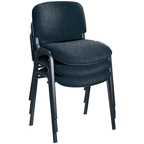 Jemini Ultra Multi-Purpose Stacking Chair Black Legs/Charcoal KF03344