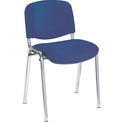 Jemini Ultra Multi-Purpose Stacking Chair Chrome Legs/Blue KF03349