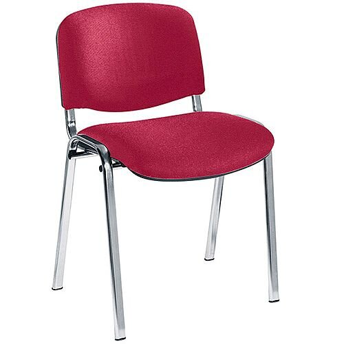 Jemini Ultra Multi-Purpose Stacking Chair Chrome Legs/Claret KF03351