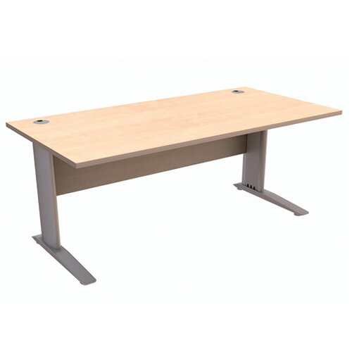 Cantilever Office Desk Rectangular W1800xD800xH725mm Maple Komo