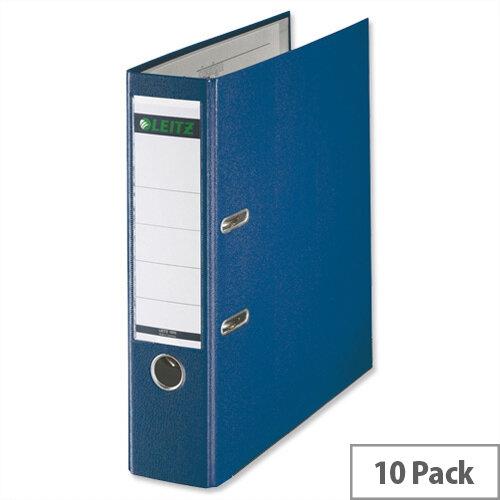 Leitz Foolscap Lever Arch File Blue Pack 10