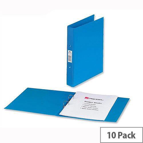 Rexel A4 Blue Ring Binder 2 O-Ring 25mm Size Pack 10