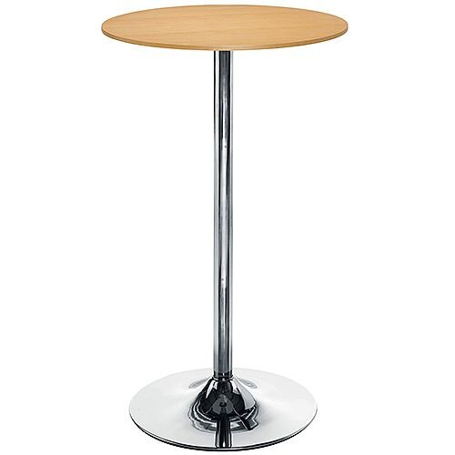 Astral Tall Round Cafe Table - Beech H1045mm x Dia 600mm