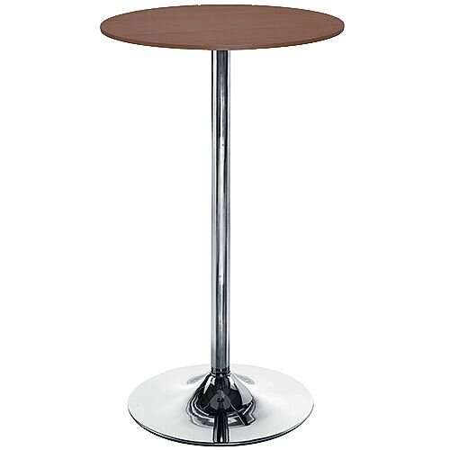 Astral Tall Round Cafe Table - Walnut H1045mm x Dia 600mm