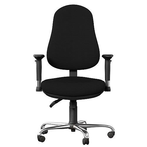 OE Series High Back Posture Operator Office Chair - Black Fabric