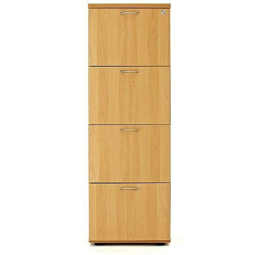 4 Drawer Filing Cabinet (600 Deep) Oak