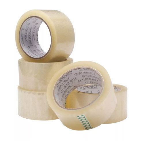 Q-Connect Polypropylene Packaging Tape 50mm x 66m Clear Pack of 6 KF01791