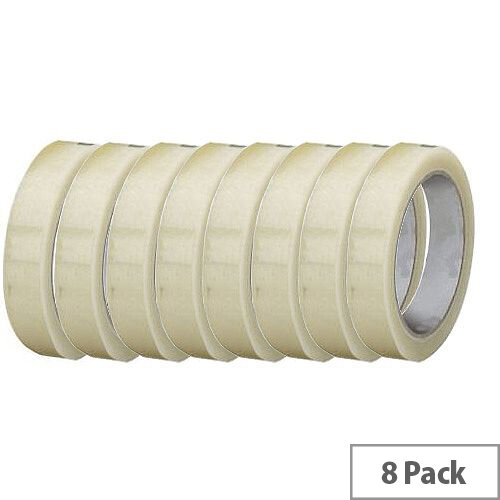 Clear Easy Tear Polypropylene Tape 19mm x 33m Pack of 8 Q-Connect KF27013