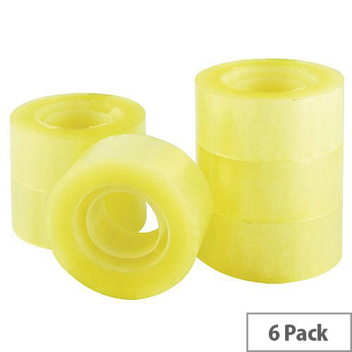 Q-Connect Clear Easy Tear Polypropylene Tape 24mm x 33m Pack of 6 KF27014