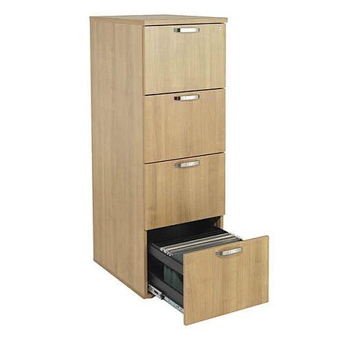 4-Drawer Wooden Filing Cabinet Ash Avior