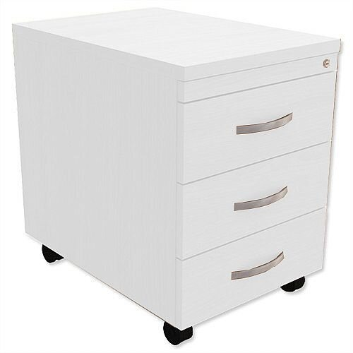 Mobile 3-Drawer Pedestal White Kito