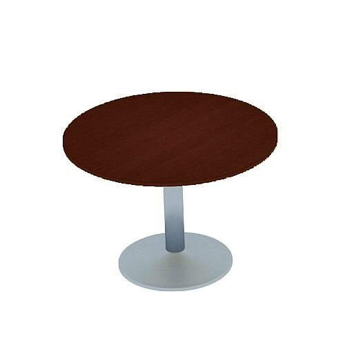 Kito Walnut Meeting Room Round Table Silver Trumpet Base Dia800xH725mm