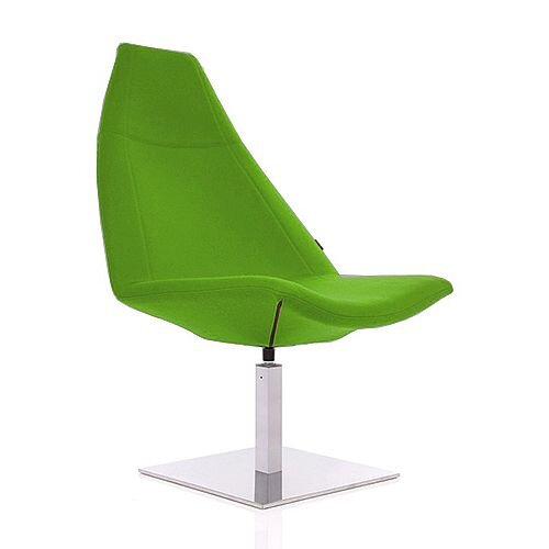 THUNDER Designer Reception Lounge Chair Green Fabric