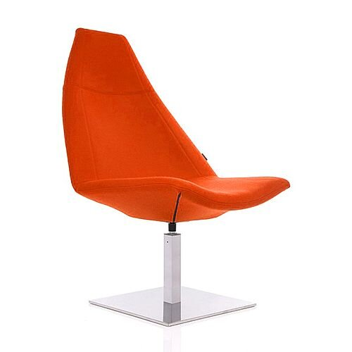 THUNDER Designer Reception Lounge Chair Orange Fabric