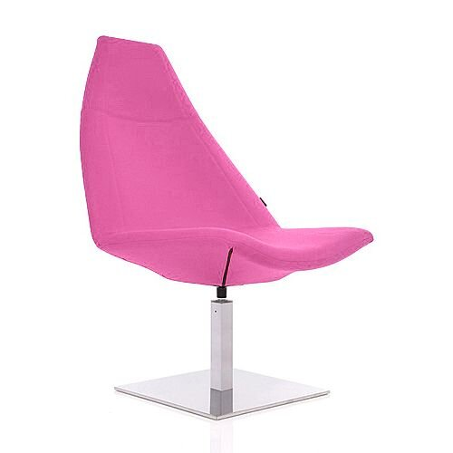 THUNDER Deluxe Designer Lounge Chair Pink 100% Wool Fabric Upholstered