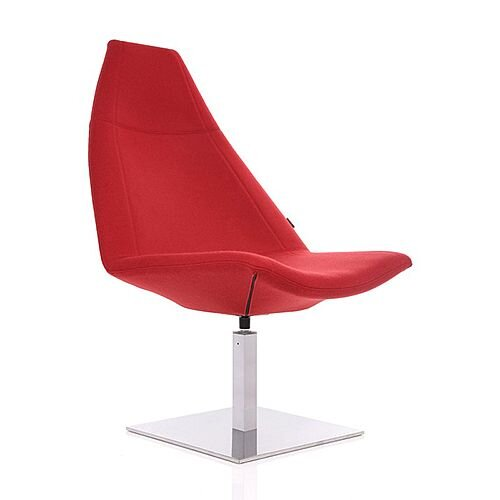 THUNDER Designer Reception Lounge Chair Red Fabric