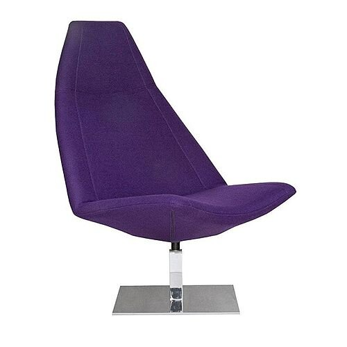 THUNDER Designer Reception Lounge Chair Purple Fabric