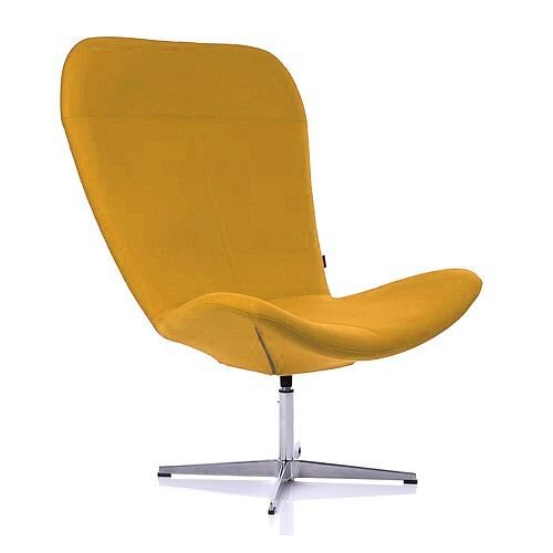TWIST Designer Reception Lounge Chair Yellow Fabric