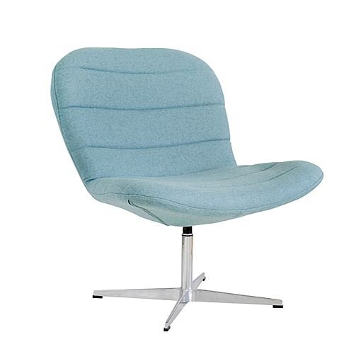 TWISTER Wool Upholstered Reception Lounge Chair Light Blue