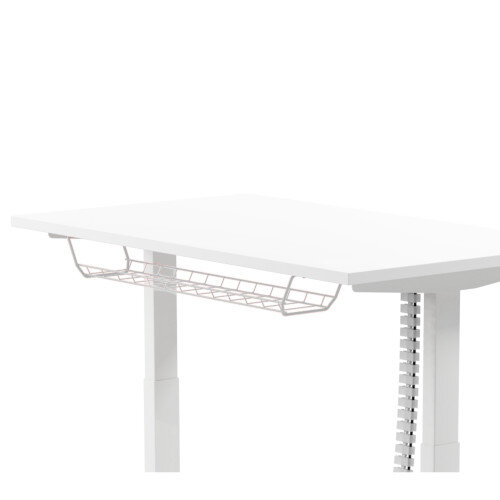 Cable Management Basket 1200mm For 1400, 1600 &1800mm Wide Leap &Zoom Height Adjustable Desks White